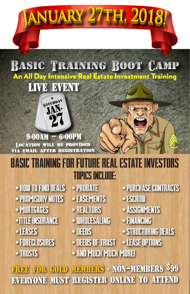 Basic Training Boot Camp JAN18